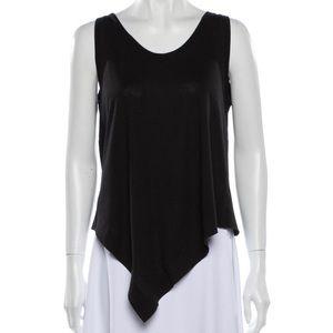 BALENCIAGA size MED poly/cotton hankerchief hem